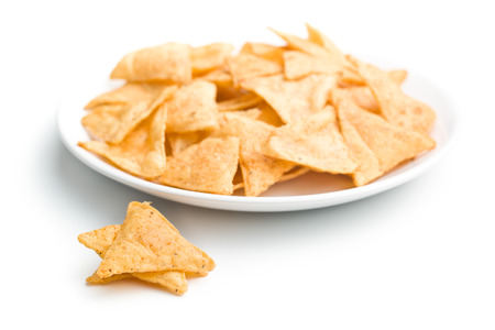 tortilla chips: the tortilla chips on plate
