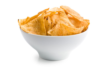 nachos: the tortilla chips in bowl Stock Photo