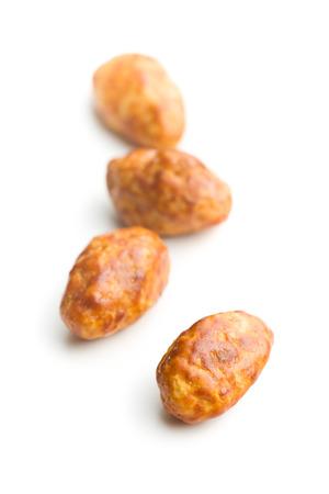 sugared almonds: sugared almonds on white background