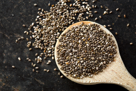 biologic: top view of chia seeds