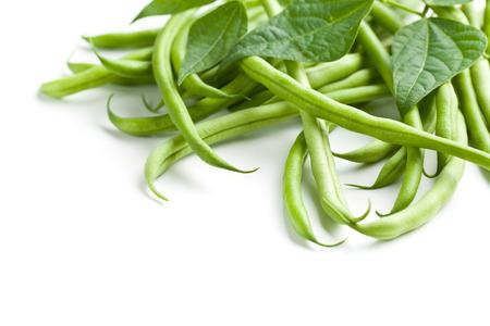 planta de frijol: judías verdes en blanco apaisada