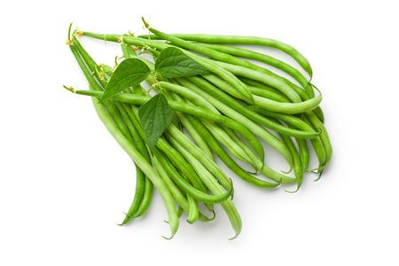 groene bonen op witte backround Stockfoto
