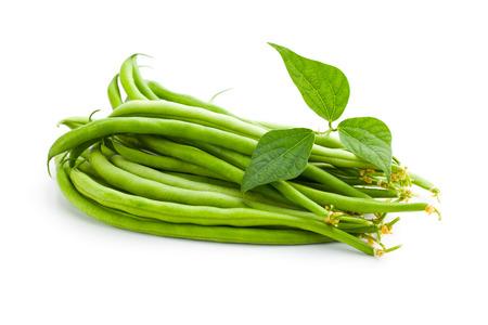 green beans: green beans on white backround Stock Photo