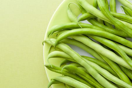 ejotes: las judías verdes en el vector verde