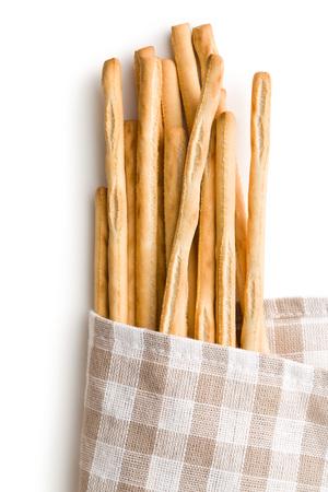 breadstick: breadsticks grissini on white background