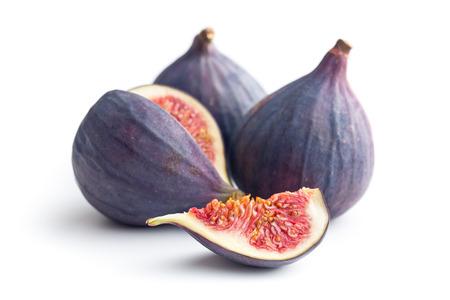 sliced fresh figs on white background Standard-Bild