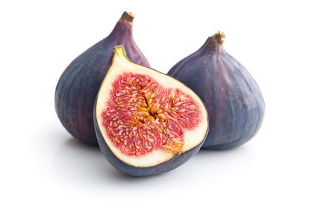sliced fresh figs on white background 版權商用圖片