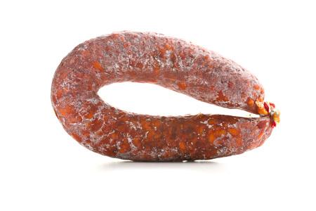 chorizo: Chorizo sausage on white background