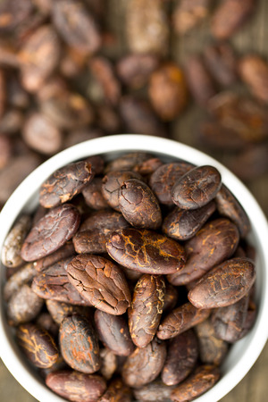 cocoa beans: the cocoa beans in bowl