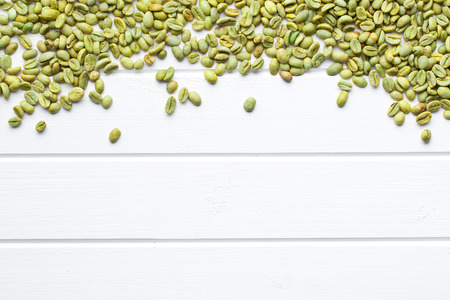 unroasted: top view of unroasted coffee beans