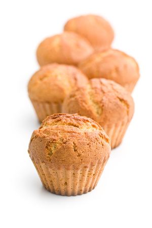 muffin: sweet muffins on white background Stock Photo
