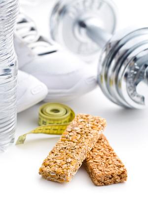 barra de cereal: la barrita de muesli y de deporte