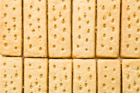 fingers on top: top view of sweet shortbread fingers Stock Photo