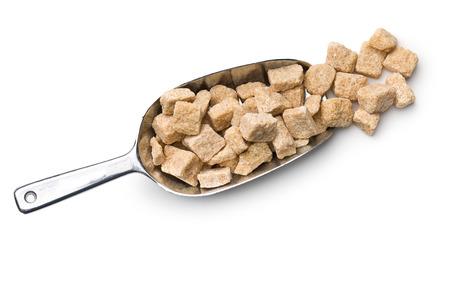 cane sugar: unrefined cane sugar in scoop