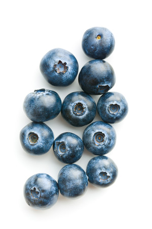 Tasty blueberries isolated on white background. Blueberries are antioxidant organic superfood. 免版税图像 - 56637579