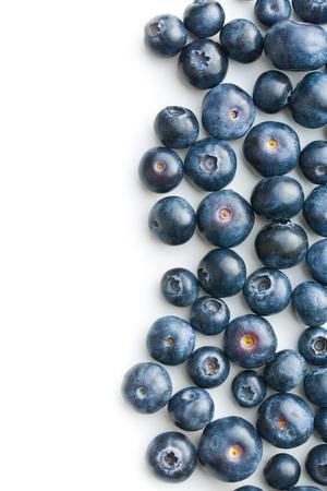 antioxidants: Tasty blueberries isolated on white background. Blueberries are antioxidant organic superfood.