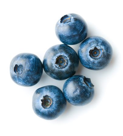 Tasty blueberries isolated on white background. Blueberries are antioxidant organic superfood. 版權商用圖片 - 56637580