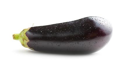 dewy: dewy fresh eggplant isolated on white background