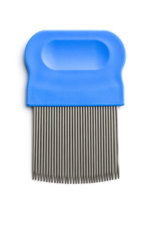 nit: Comb for combing out lice. Isolated on white background.