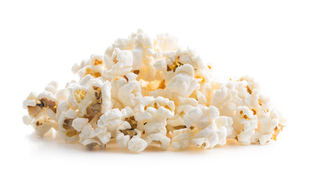 Tasty salted popcorn isolated on white background. 免版税图像 - 63125168
