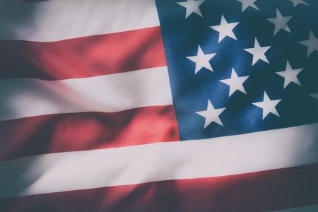 united: Detail of United States flag. Vintage background. Stock Photo