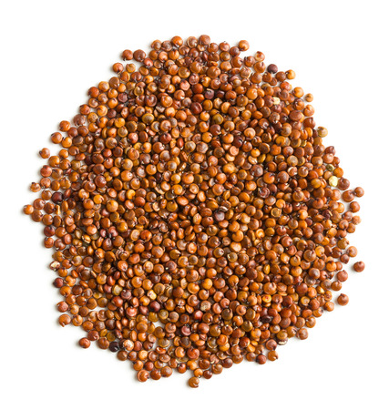 red quinoa: Red quinoa seeds isolated on white background.