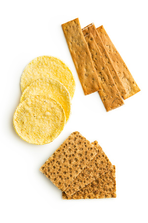 isolated on white: The healthy crispbread isolated on white background.