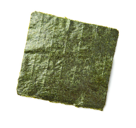 Green nori sheet isolated on white background. Nori is the ingredient for sushi. Stock fotó
