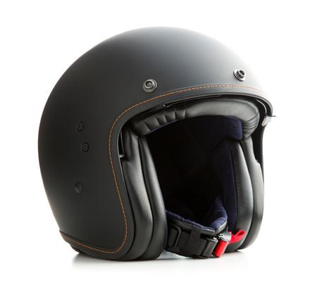 Casque ouvert moto casque isolé sur fond blanc Banque d'images - 97285613