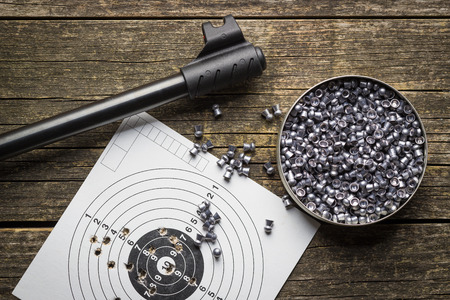 Lead airgun pellets and airgun.