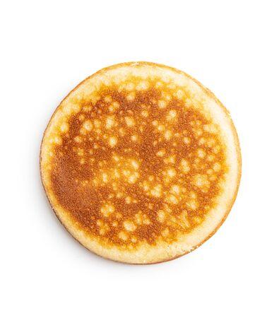 Sweet homemade pancakes isolated on white background. Archivio Fotografico - 139887636