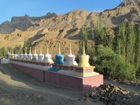 stupas: Stupas in Mulbekh, Ladakh
