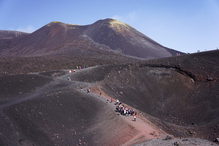 Etna is the highest active volcano in Europe 版權商用圖片
