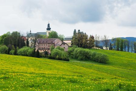 Monastery in the town Kraliky, Czech Republic Imagens