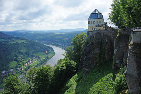 saxon: Fort K?nigstein in Saxon Switzerland