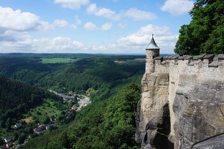 saxon: Fort K?nigstein in Saxon Switzerland