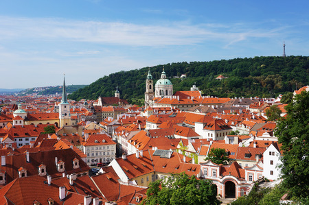 Prague - Mala Strana, church of St.Nicholas and Petrin