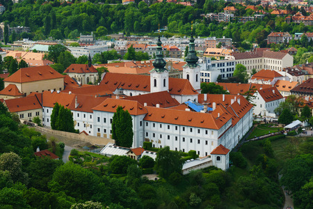 Strahov Monastery in Praque view from Petrin.The Oldest Premonstratensian monastery in Bohemia
