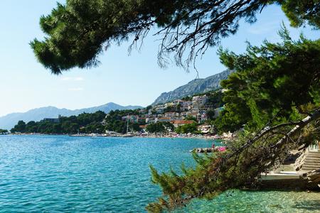 centers: Brela is a seaside resort on the Makarska Riviera