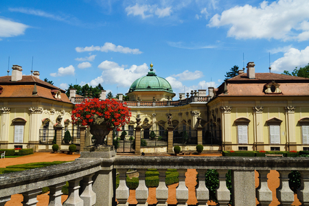State chateau Buchlovice with Situated near the majestic medieval Buchlov Castle. It can undoubtedly be Perceived as one of the most prominent noble seats in the Czech Republic.