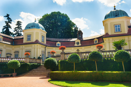 perceived: State chateau Buchlovice with Situated near the majestic medieval Buchlov Castle. It can undoubtedly be Perceived as one of the most prominent noble seats in the Czech Republic.