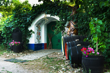 folk tales: Wine cellar in southern Moravia, Czech Republic Stock Photo