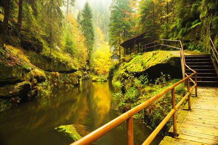 czech switzerland: Edmund Gorge is located in the Czech Switzerland National Park