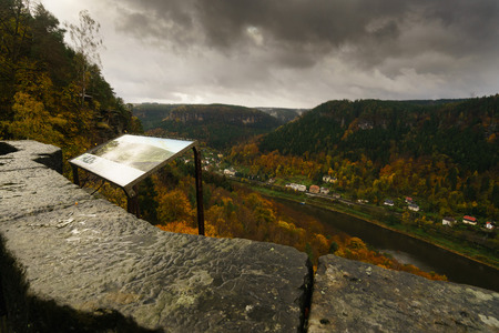 Autumn in the Elbe Valley from Belveder view