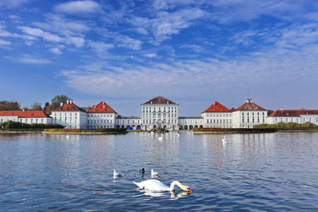nymphenburg palace: Nymphenburg palace in Munich Germany. Nymphenburg palace Schloss Nymphenburg was a smaller residential palace, now is the biggest Baroque palace in Munich, Bavaria in southern Germany. The baroque facades comprise an overall width of about 700 metres. The