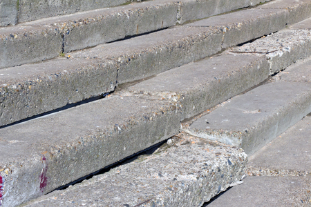 steps and staircases: Old concrete steps leading above, to a sunny day