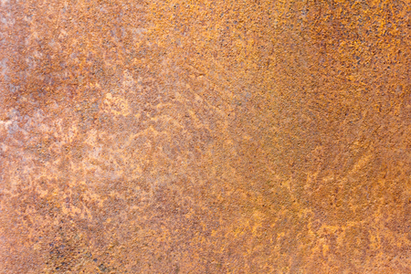 Steel sheet of iron corroded by rust (background). Very old. Strong influence of  water. Much time was on the outdoor.