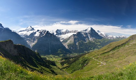 eiger: Eiger, Schreckhorn and neighborhood in Berner Alpen, Switzerland