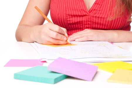 boffin: College student studying (swot up) for exam