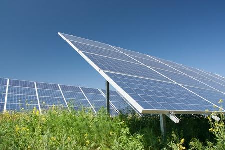 nonpolluting: Solar power station - alternative energy